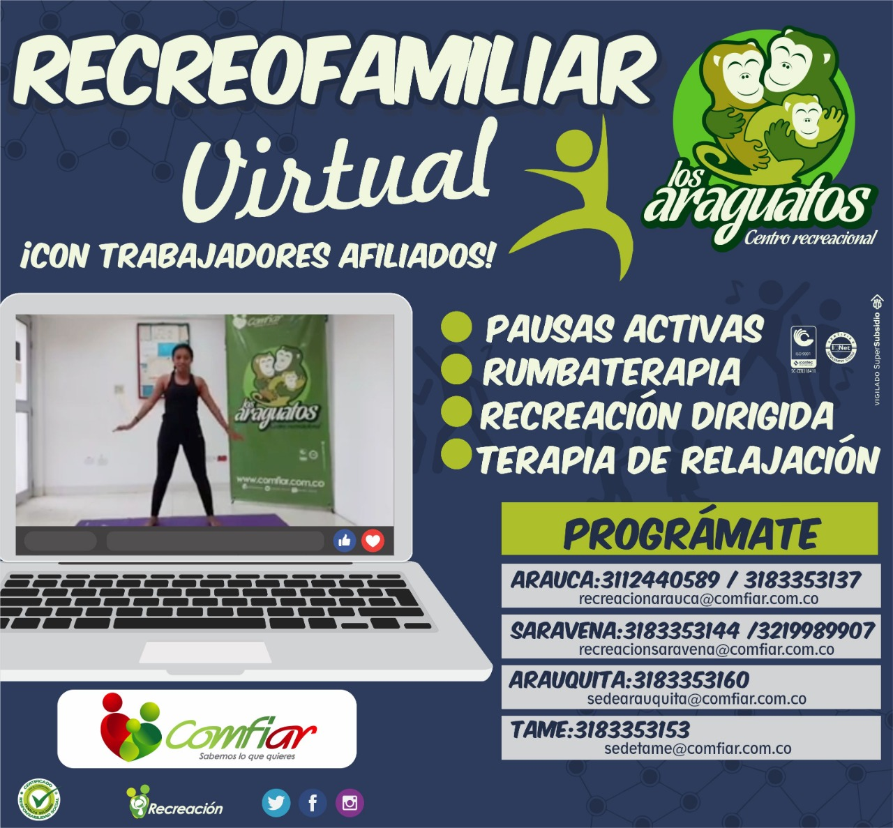 Recreofamiliar virtual Prográmate